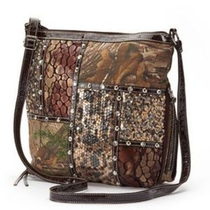 Realtree Camouflage Patchwork & Sequined Crossbody